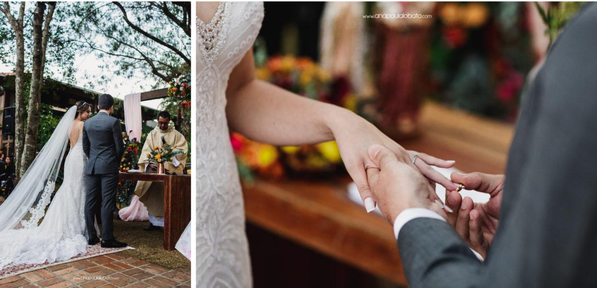 troca de alianças em casamento de dia