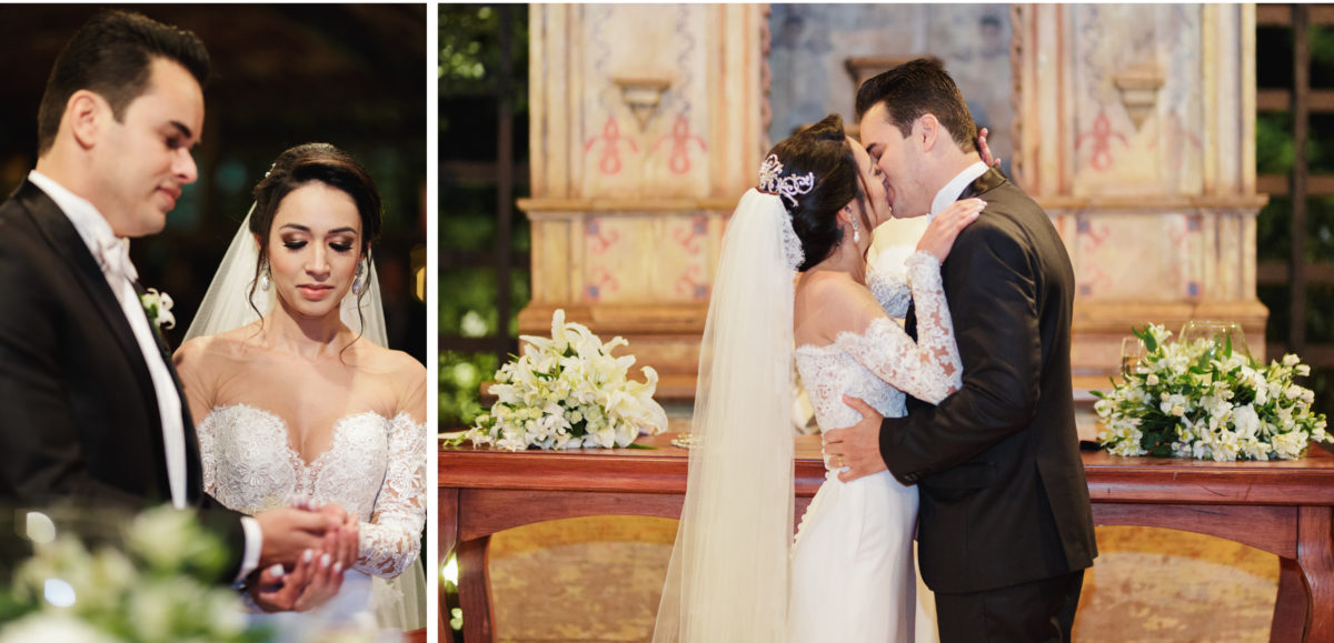 casamento romântico e moderno