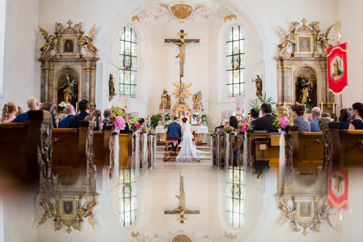 church wedding creative photo