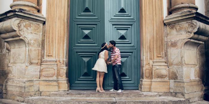 Pre wedding romântico em Ouro Preto | Brasil