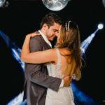 Couple enjoy the wedding dance moment