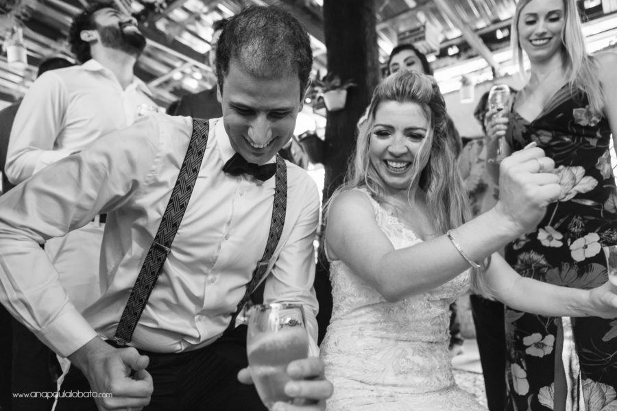 Married couple having fun in the dance floor