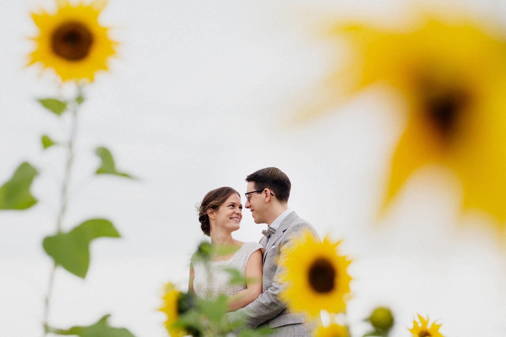 casamento com girassol