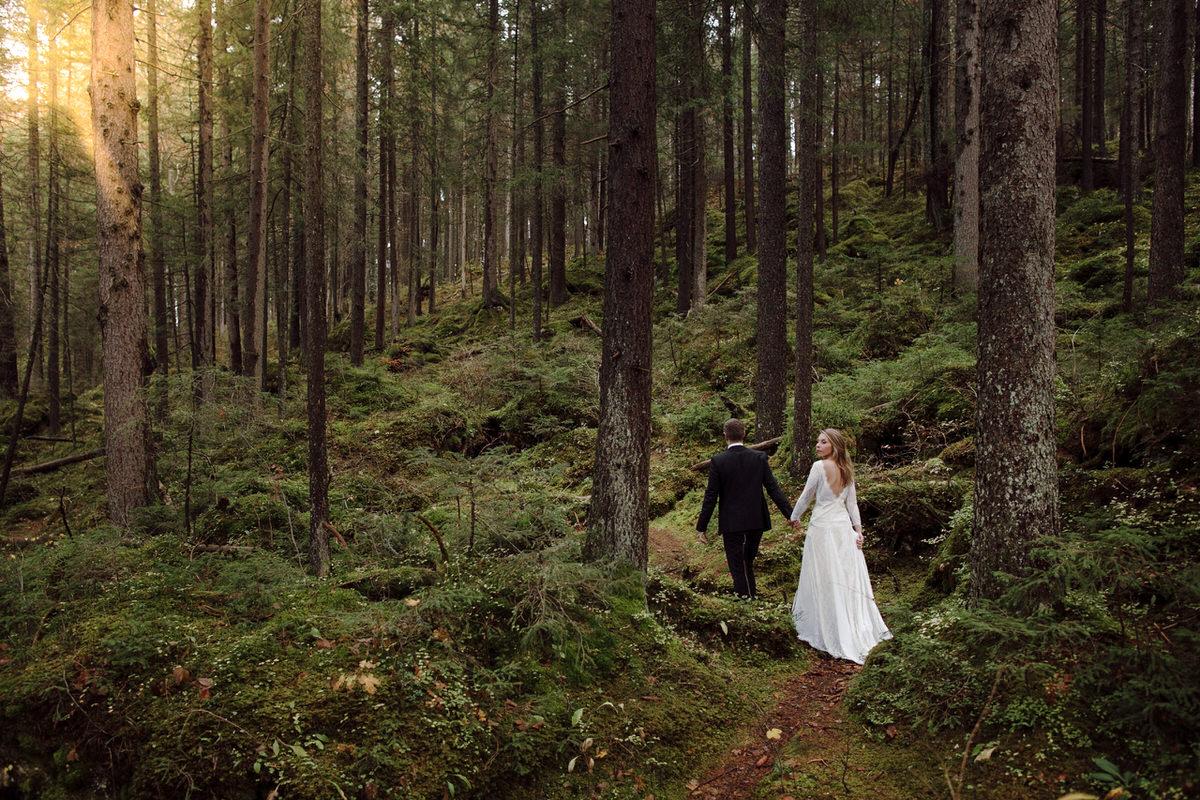 elopement na floresta